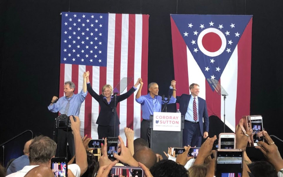 Image for Last night in Cleveland with Barack, Rich, and Betty